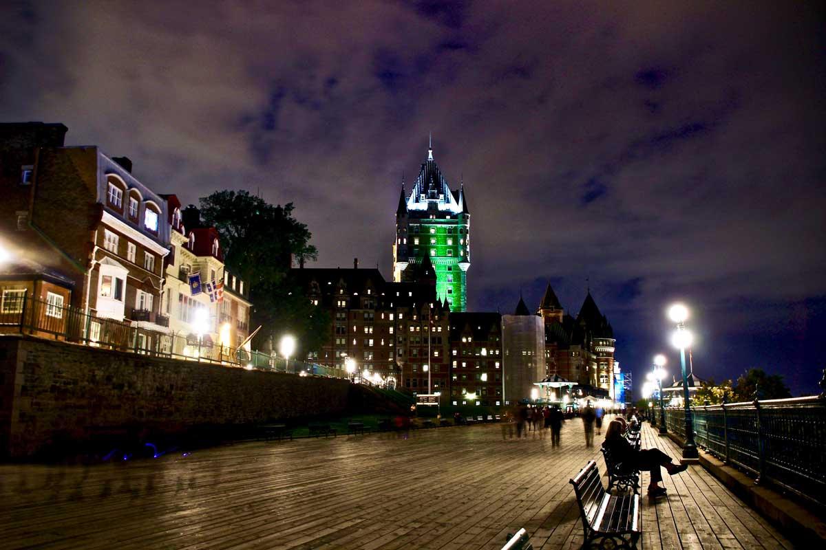 chateau frontenac de nuit