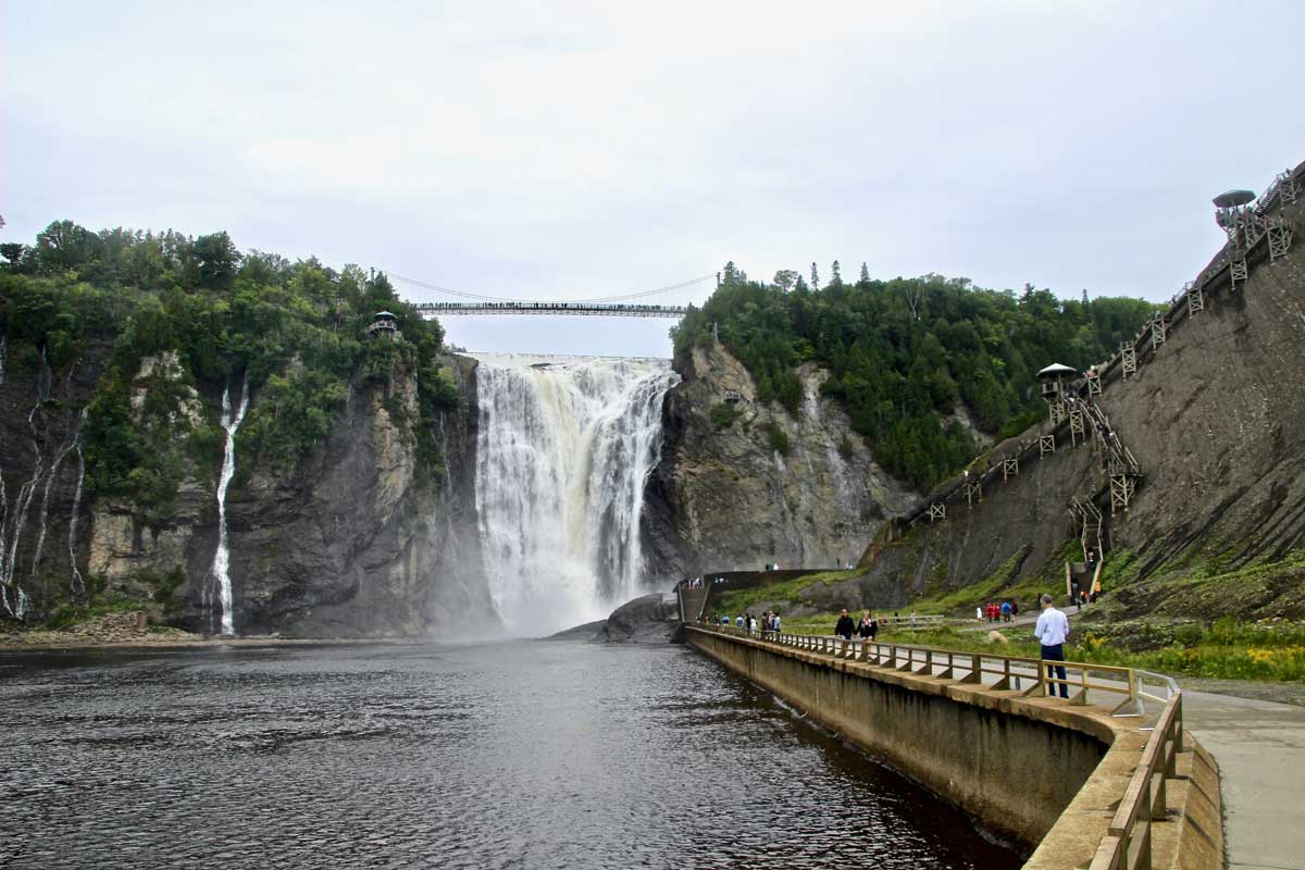 parcours chute montmorency quebec