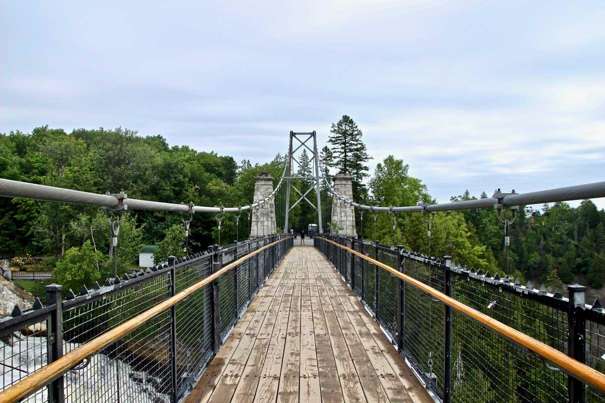 pont suspendu chute montmorency