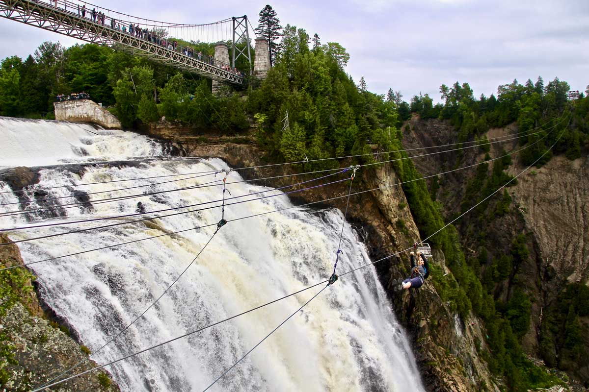 tyrolienne chute montmorency quebec