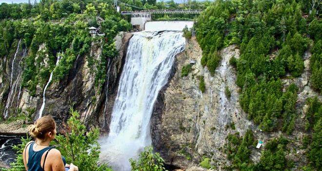 visiter le parc de la chute montmorency en  u00e9t u00e9