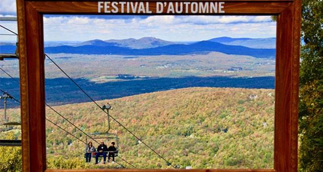 Un week-end d'automne à Sutton au Québec
