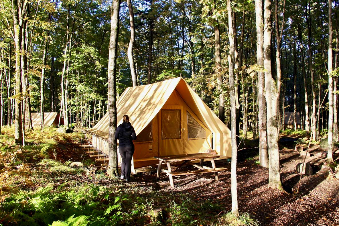tente canadienne hutopia sutton québec