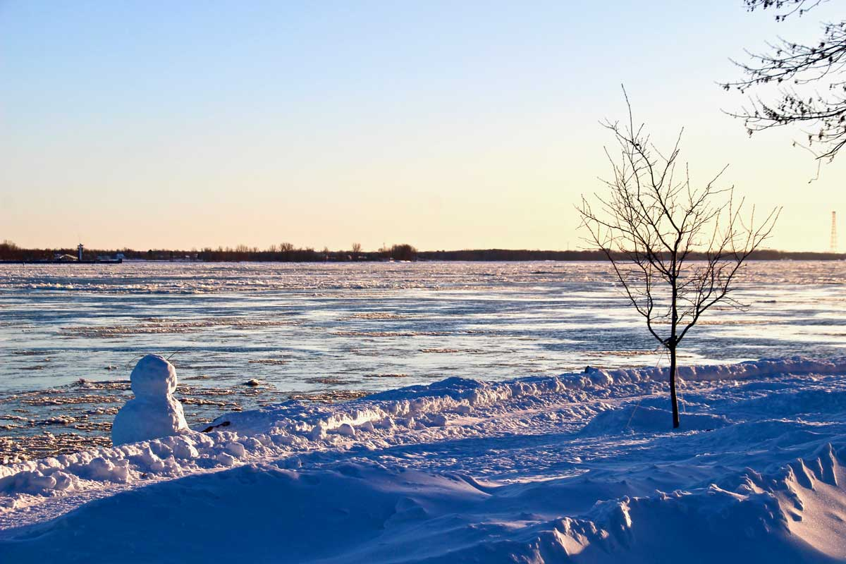 coucher de soleil à trois rivieres