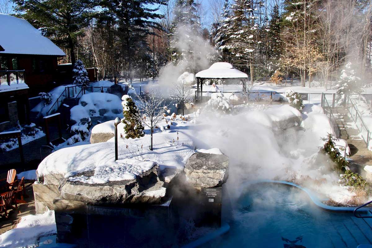 spa KiNipi en hiver à trois rivieres