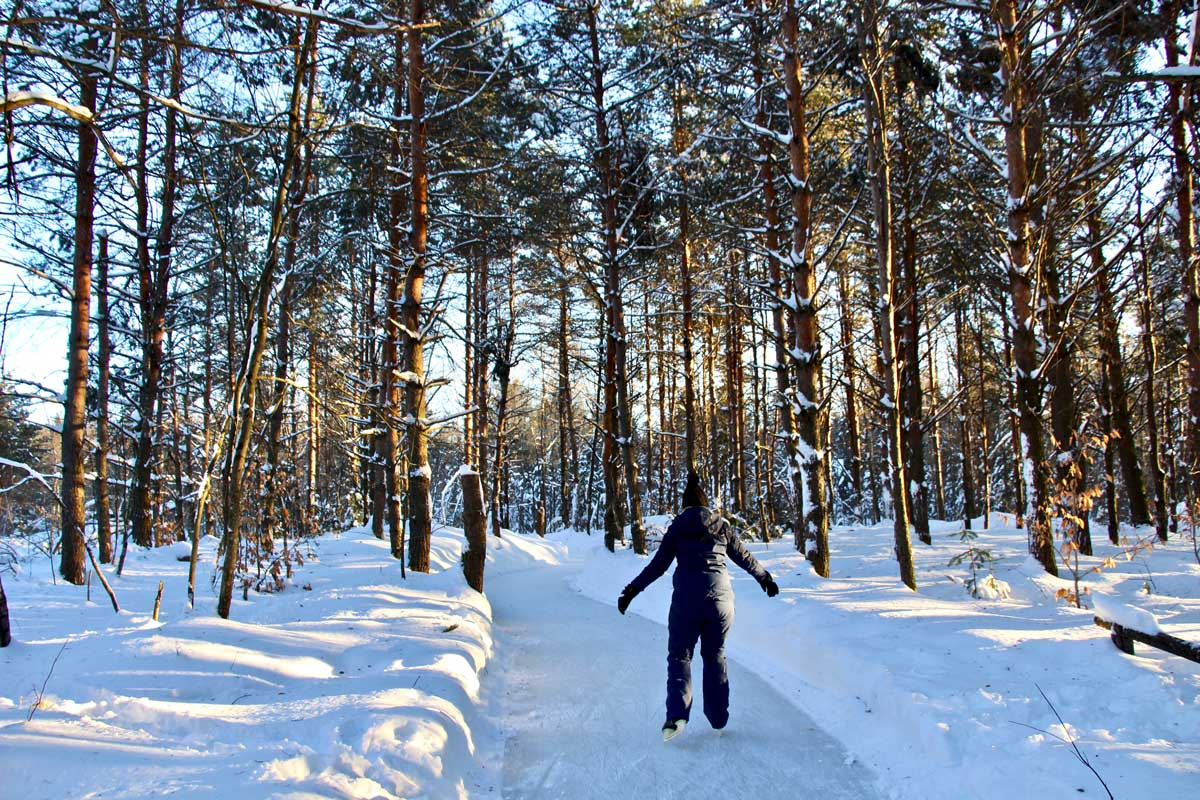 patin à glace au domaine de la foret perdue à trois rivieres