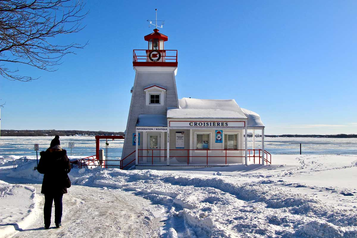 au bord du fleuve Saint Laurent à trois rivieres