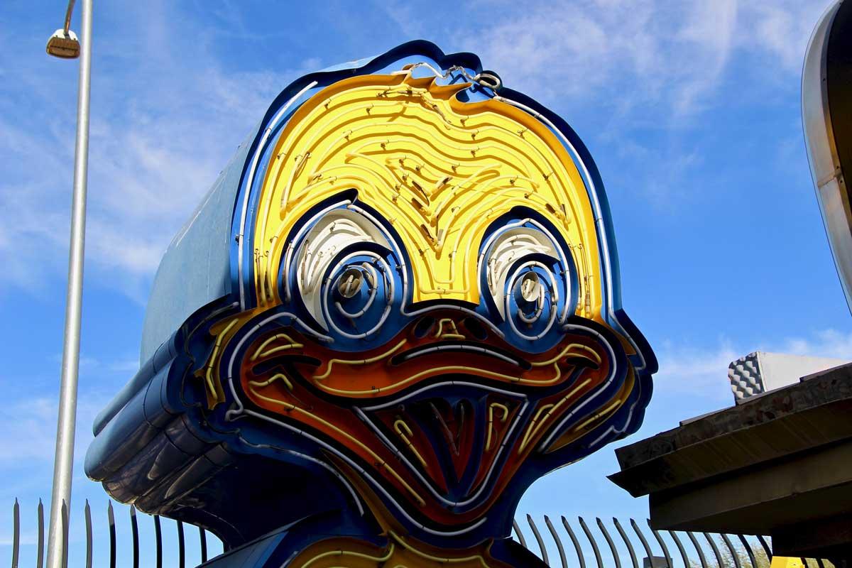 Canard Duck musee du neon Las vegas