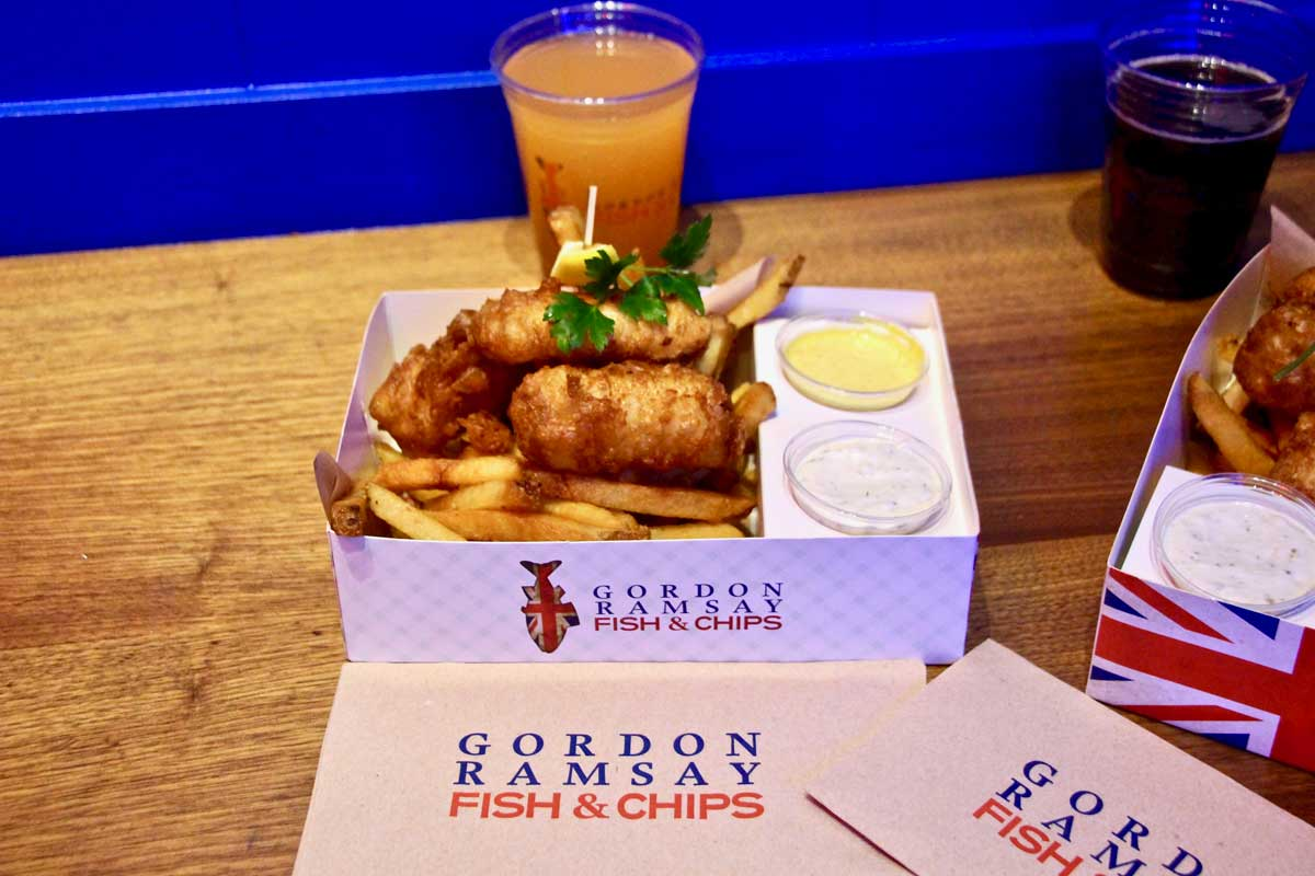 Fish and Chips Gordon Ramsay Las Vegas