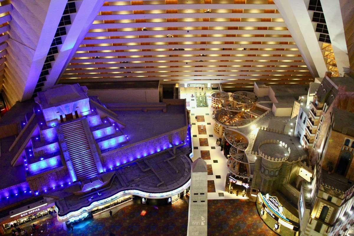 Luxor vue interieure Las Vegas