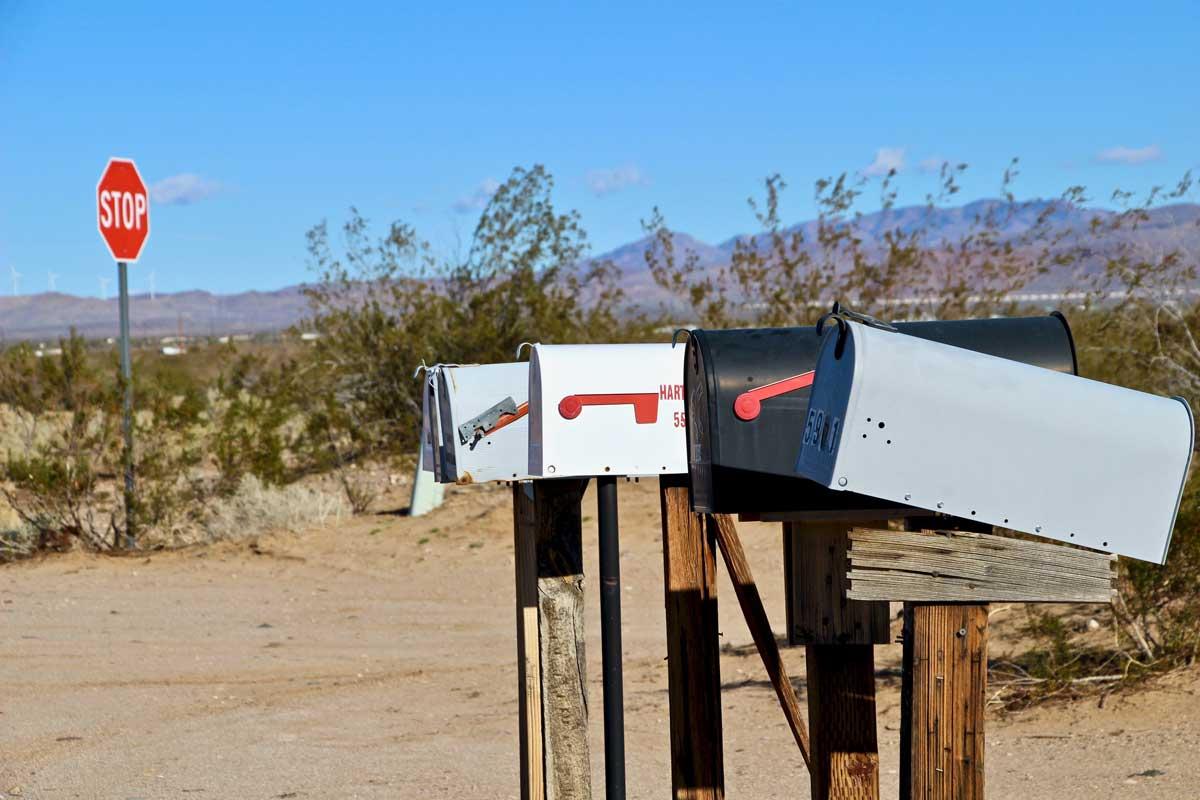 boites aux lettres sur la route 66