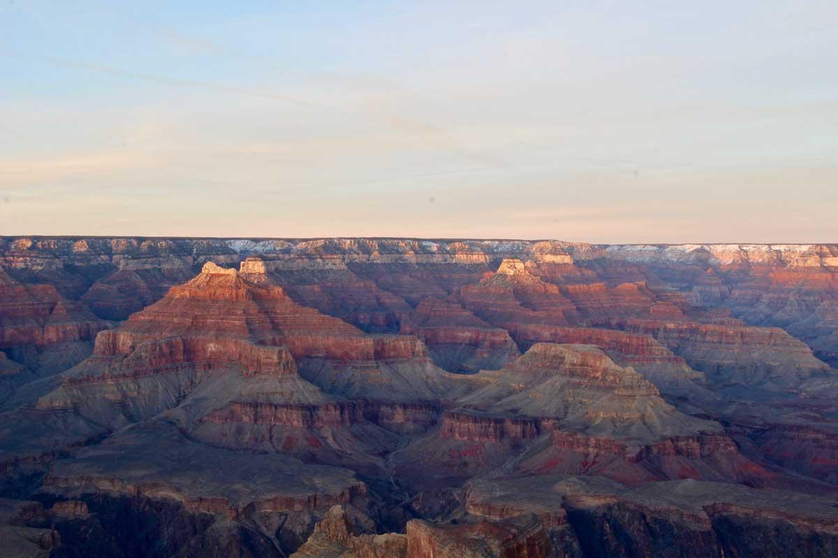coucher soleil grand canyon etats-unis