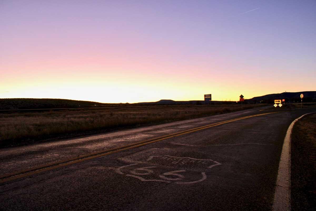 coucher soleil usa route 66 seligman