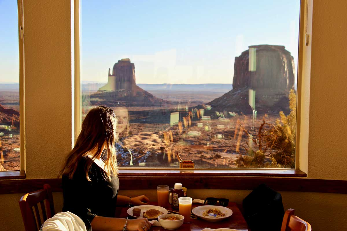 restaurant navajos the view monument valley