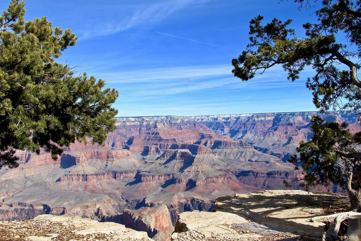 vue grand canyon usa hiver