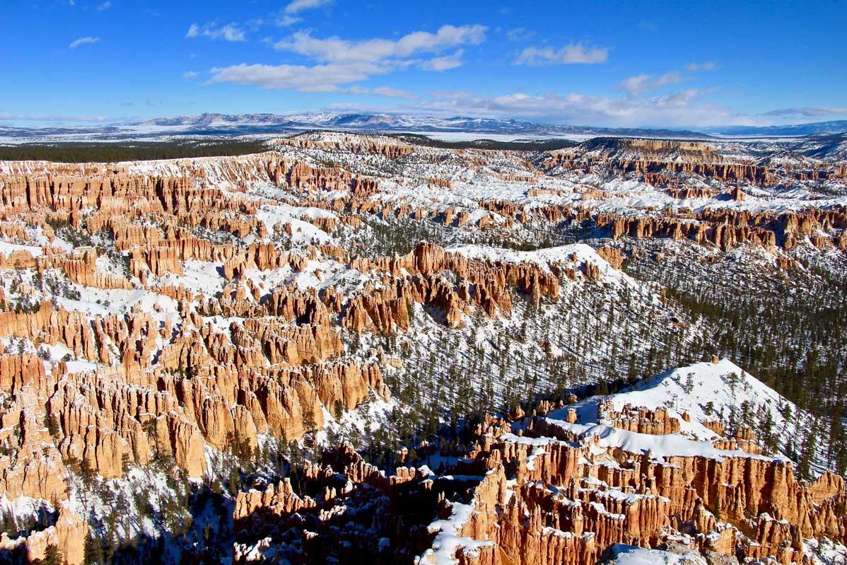amphithéâtre bryce canyon hiver