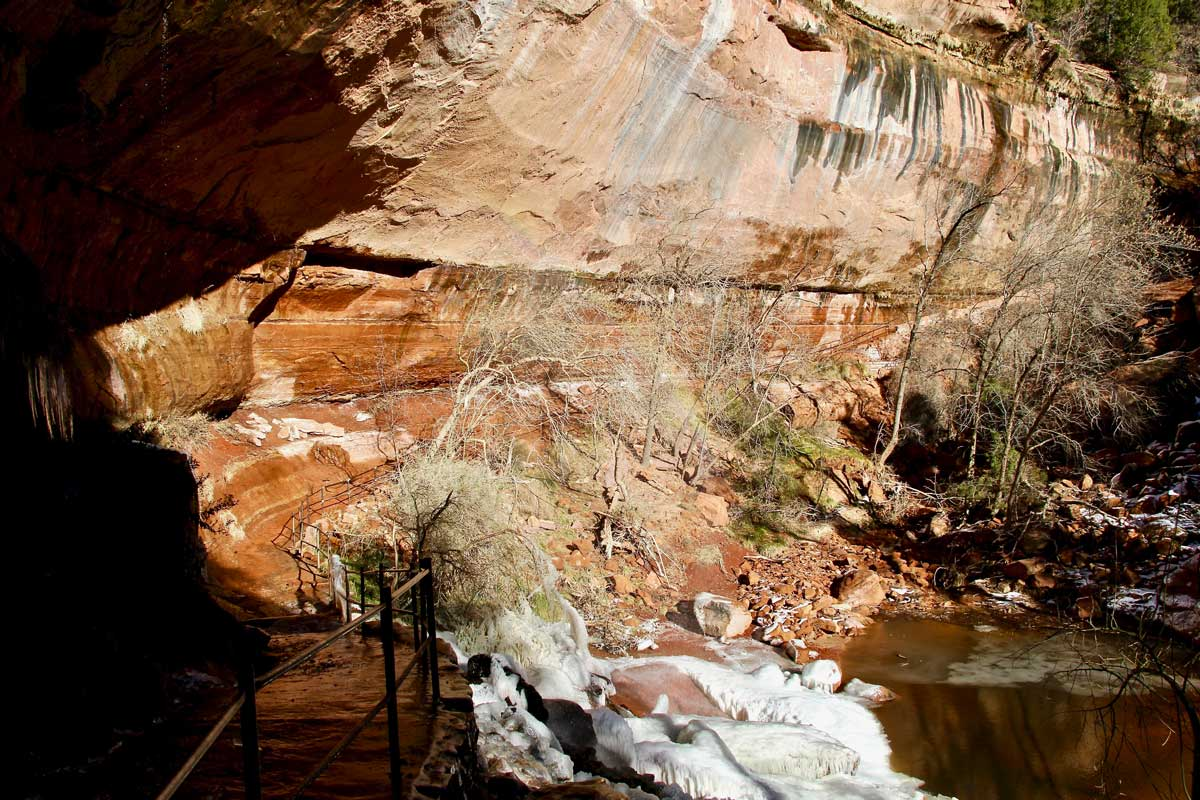 cascade Lower Emerald Pool Zion