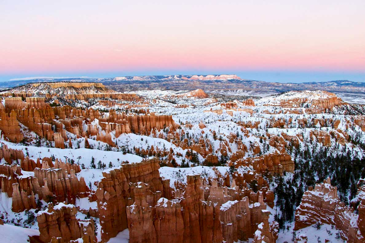 coucher soleil bryce canyon
