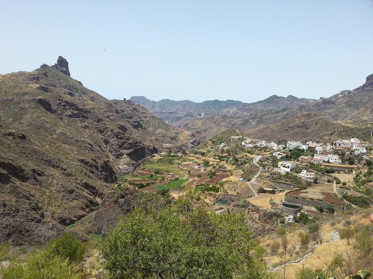 gran canaria village blanc Tejeda
