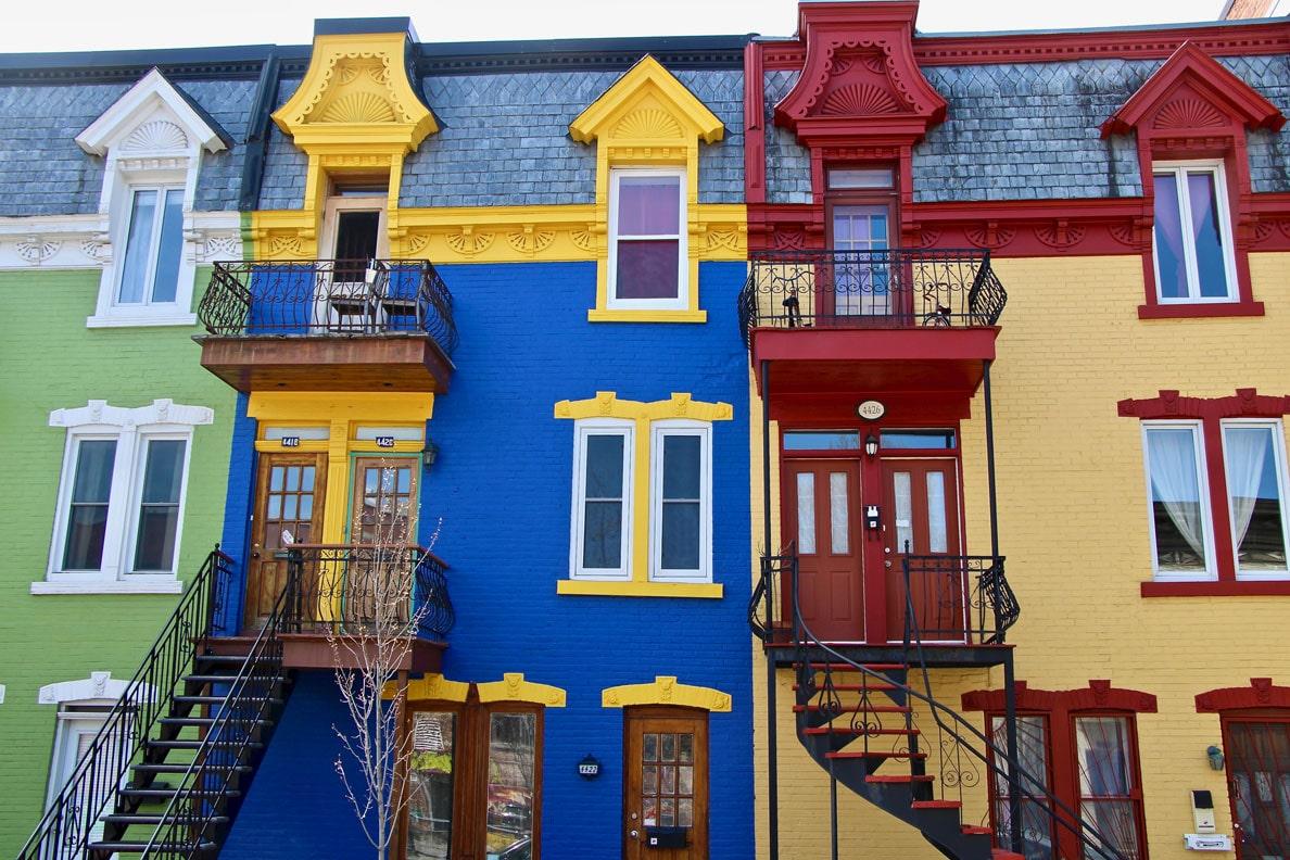 maisons colorees plateau montreal