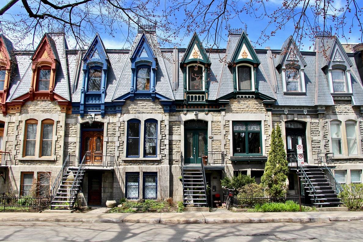 maisons colorées plateau montreal