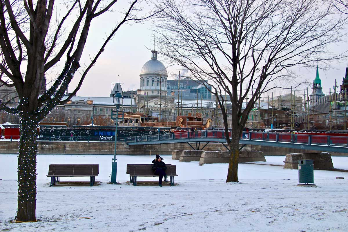 vieux montreal hiver