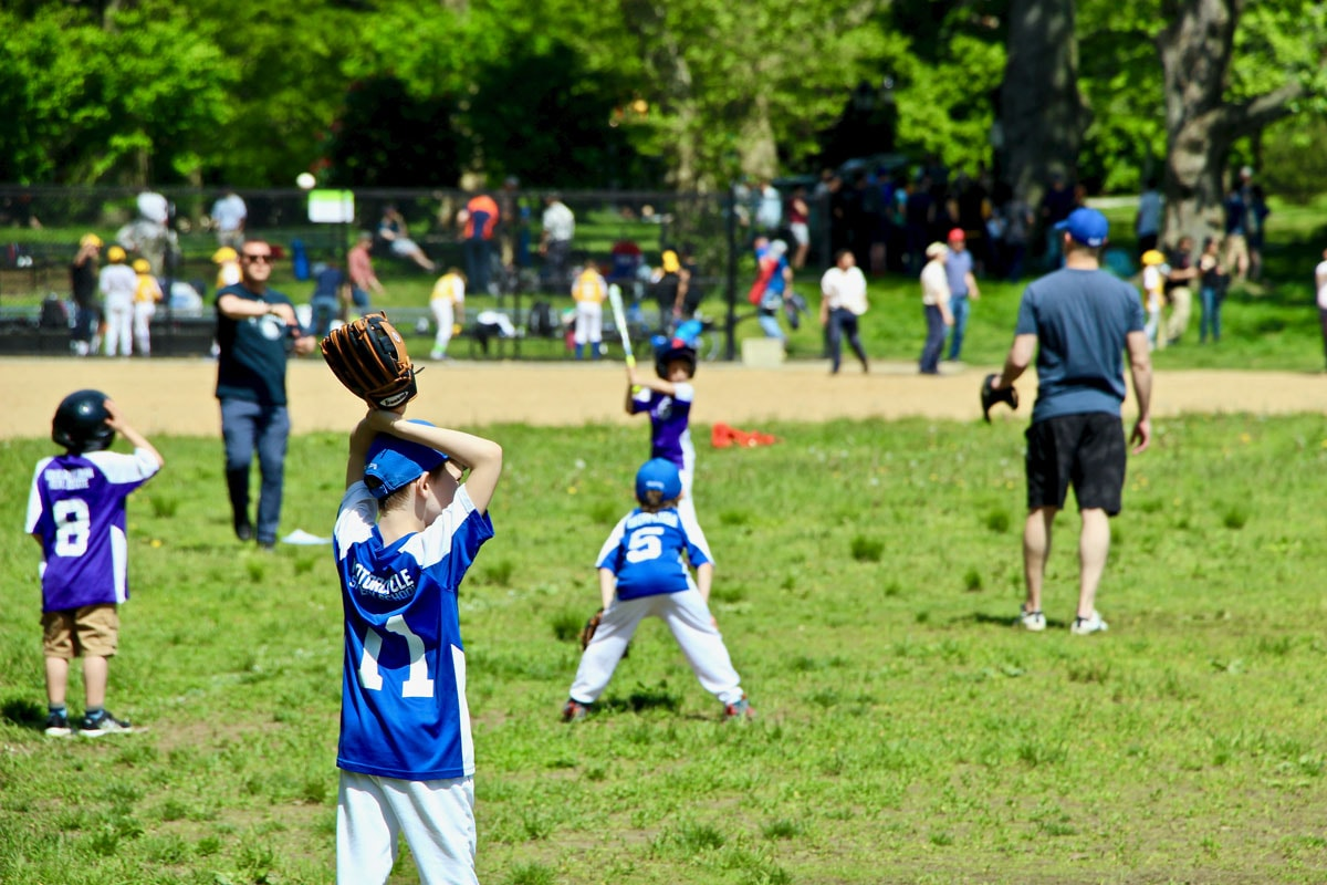 Baseball junior Prospect Park Brooklyn New York