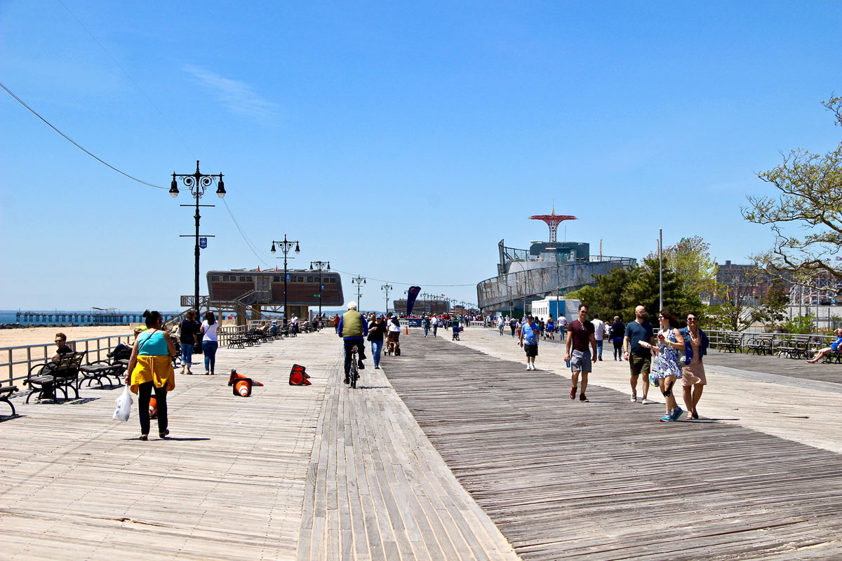 Boardwalk Coney Island Plage Brooklyn New York