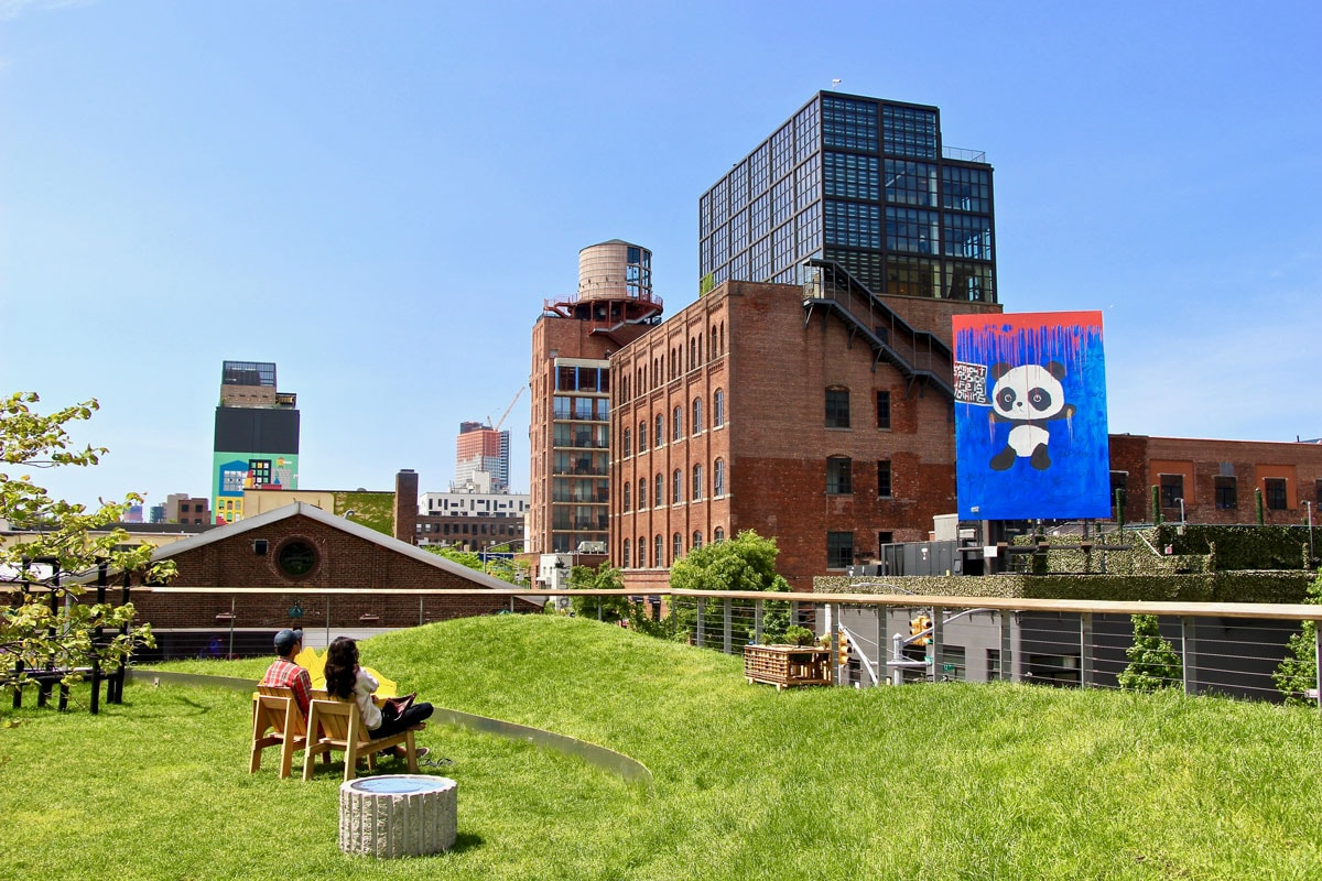 Installation Rooftop street Art Williamsburg Visiter Brooklyn en 2 jours