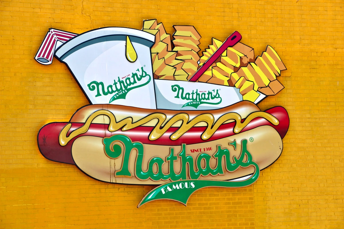 Logo Nathans hot dog Brooklyn New York