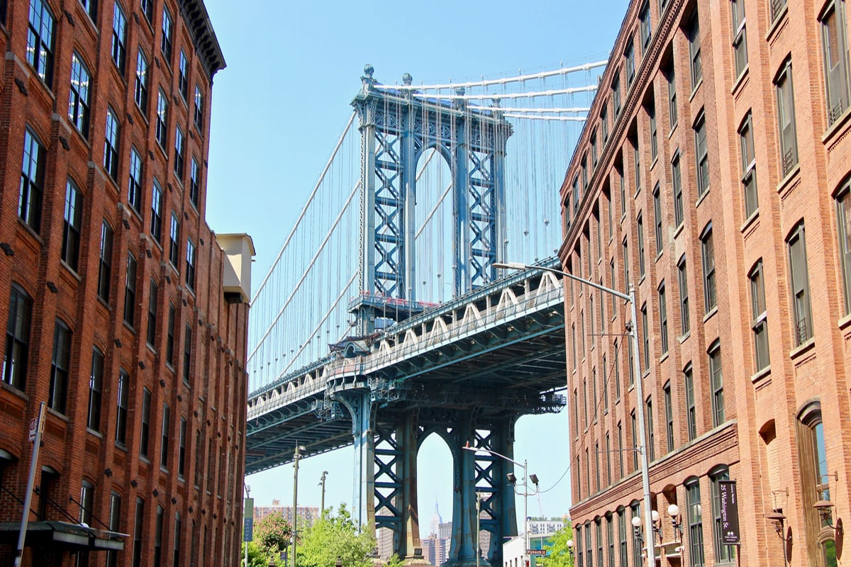 Photo Pont entre les immeubles Visiter Brooklyn en 2 jours
