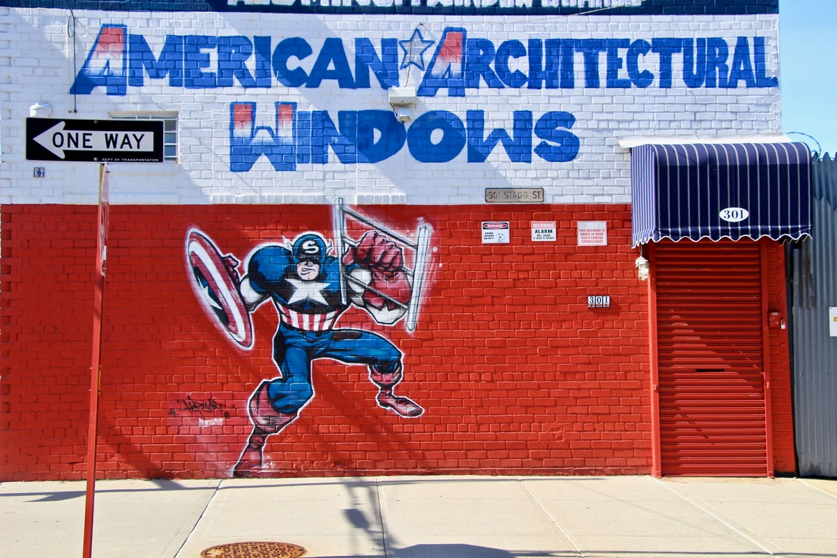 Street Art Brooklyn Art Urbain Capitain America New York Visiter Brooklyn en 2 jours