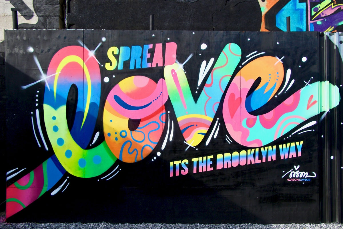 Street Art Brooklyn Art Urbain LOVE New York