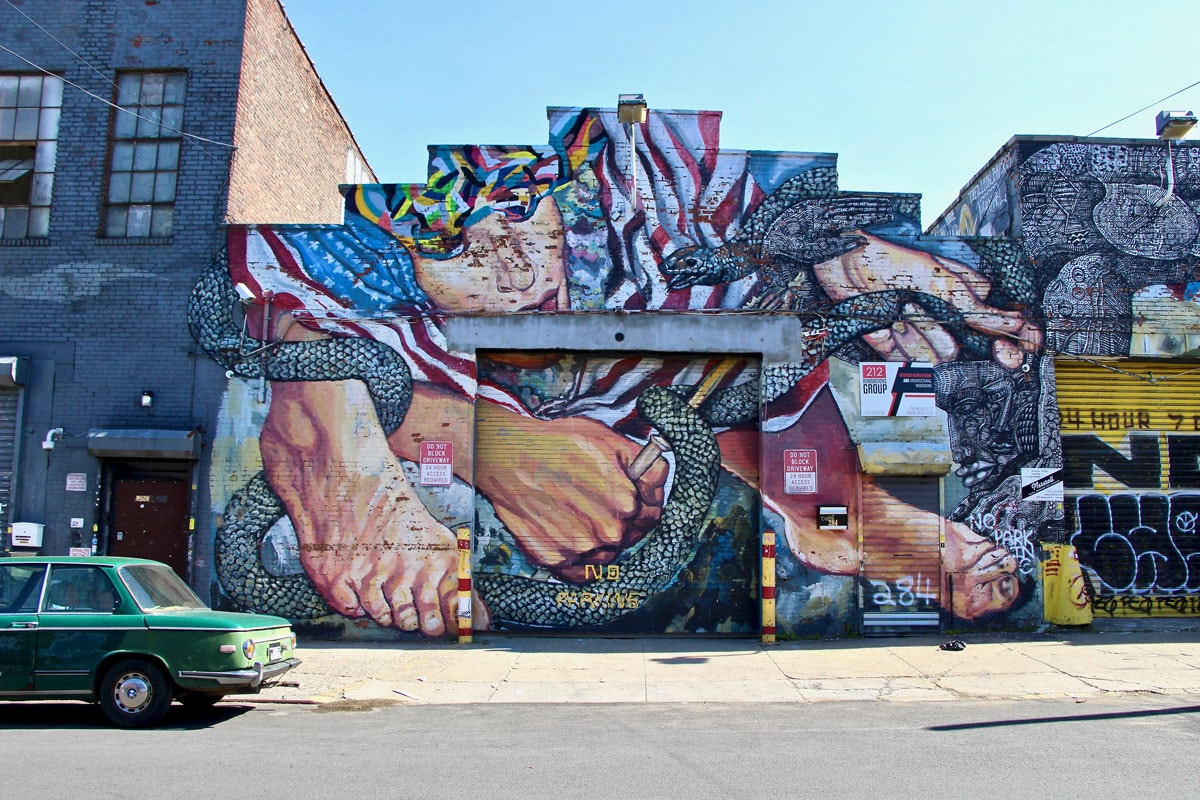 Street Art Brooklyn Art Urbain Mural New York Visiter Brooklyn en 2 jours