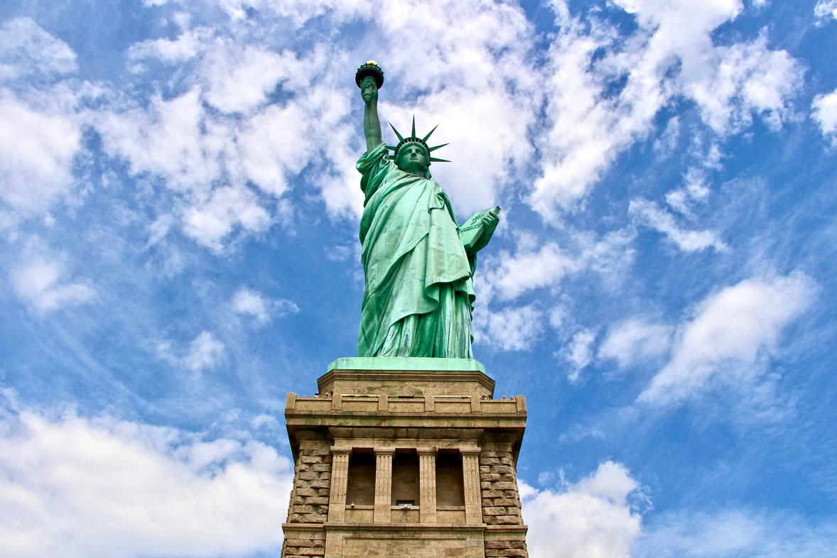 piedestal statue de la liberte