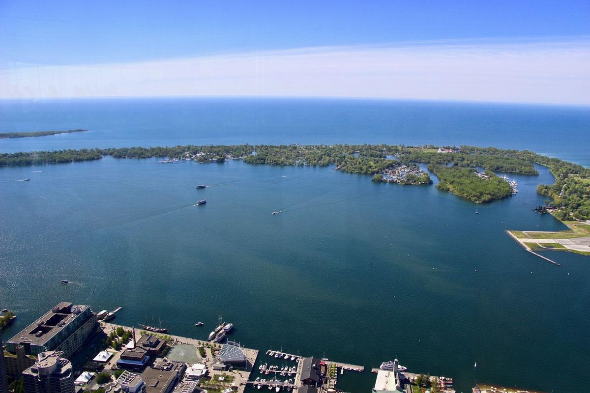 Iles de Toronto depuis la CN Tower