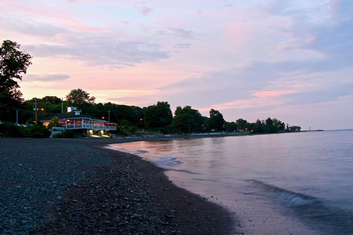 coucher soleil ile d'orleans
