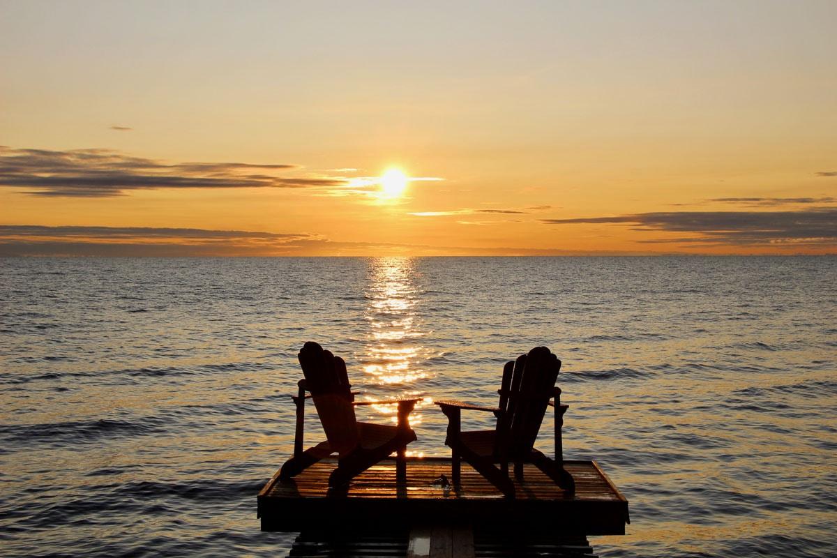 Chaises coucher de soleil Lac Saint Jean
