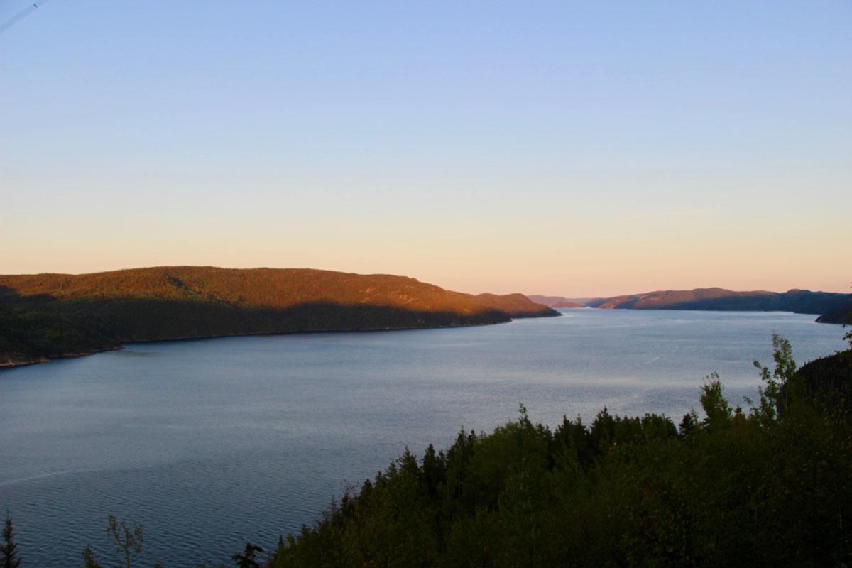 Coucher de soleil Fjord-du-Saguenay Canada