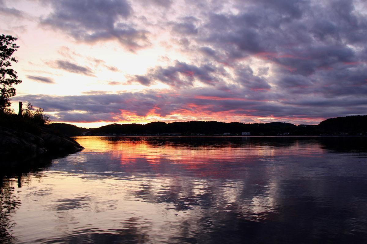 Coucher de soleil Fjord du Saguenay Quebec