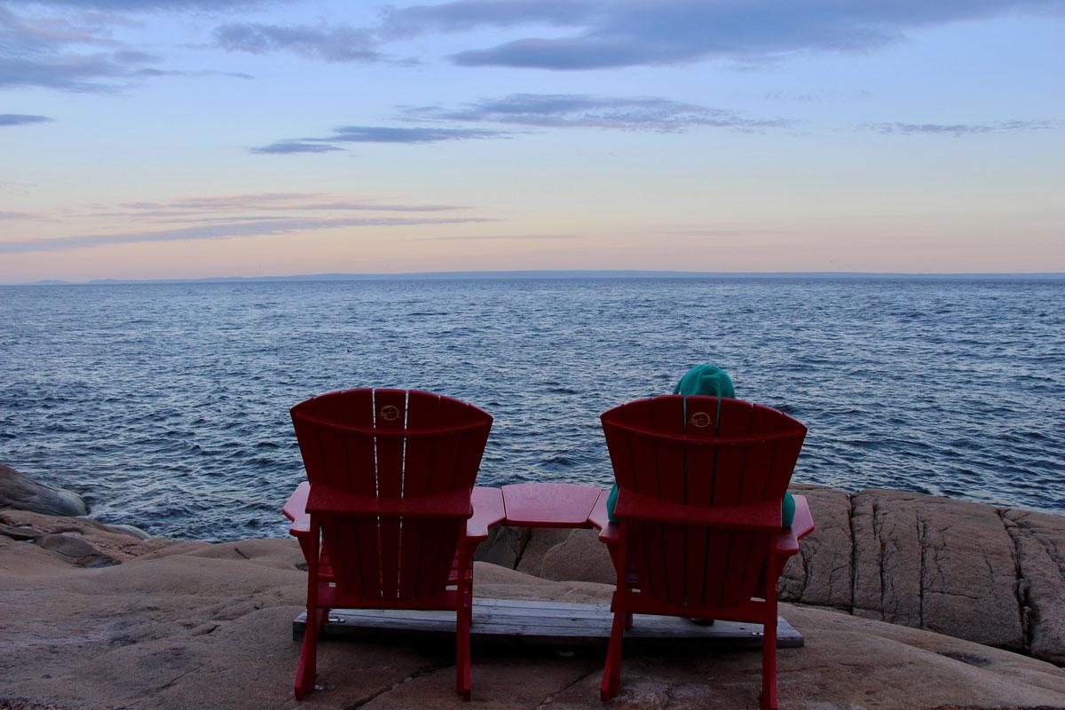 Coucher de soleil les Escoumins Quebec