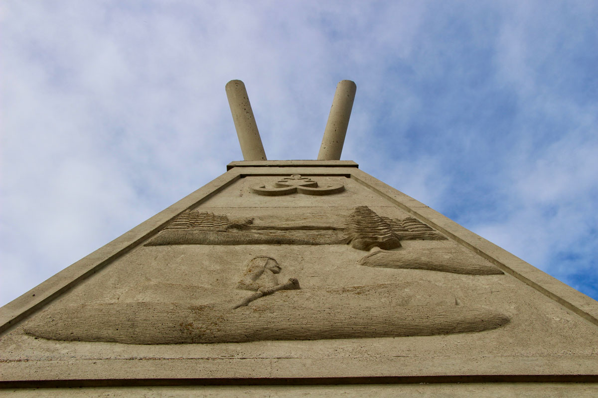 Detail Pyramide amerindiens Lac Saint Jean