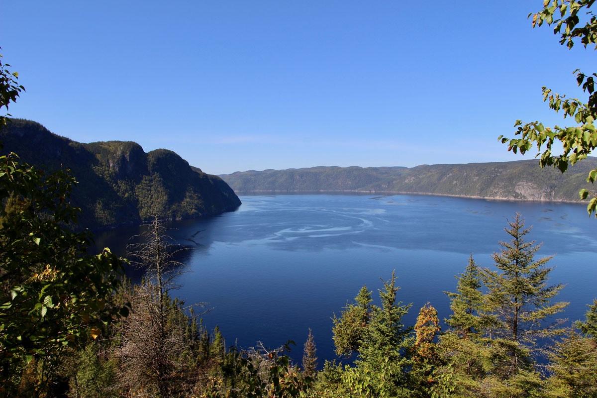 Fjord du Saguenay Quebec vue du haut