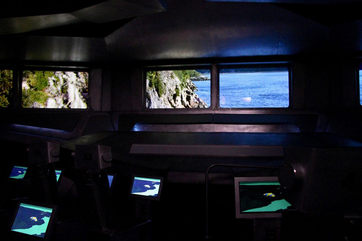 Simulateur musee du Fjord du Saguenay Quebec