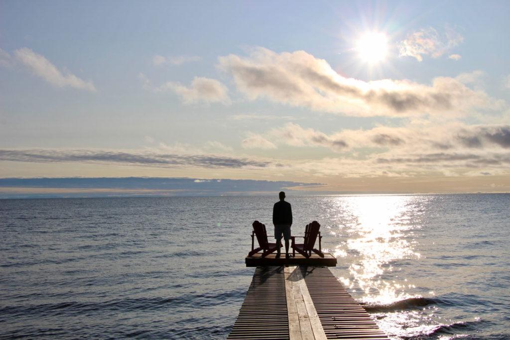 Tom lever de soleil Lac Saint Jean Quebec