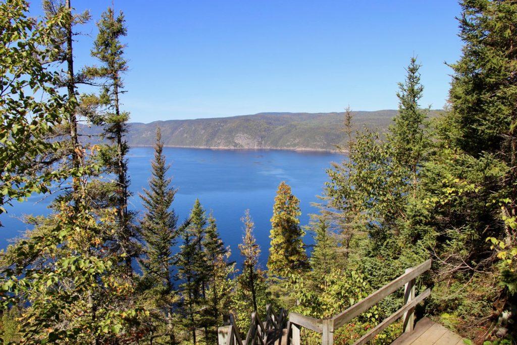 Vue plongeante Fjord du Saguenay Quebec