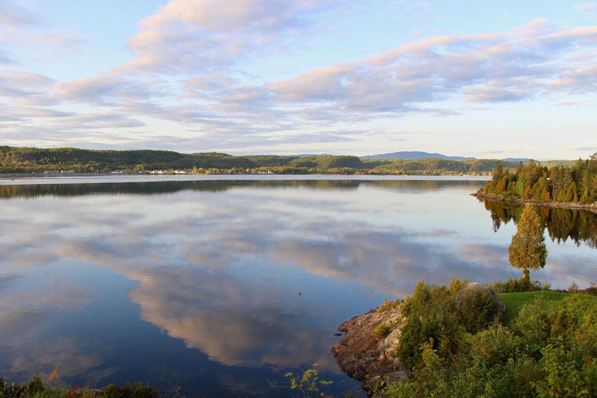 Vue terrasse chalet Fjord du Saguenay Quebec