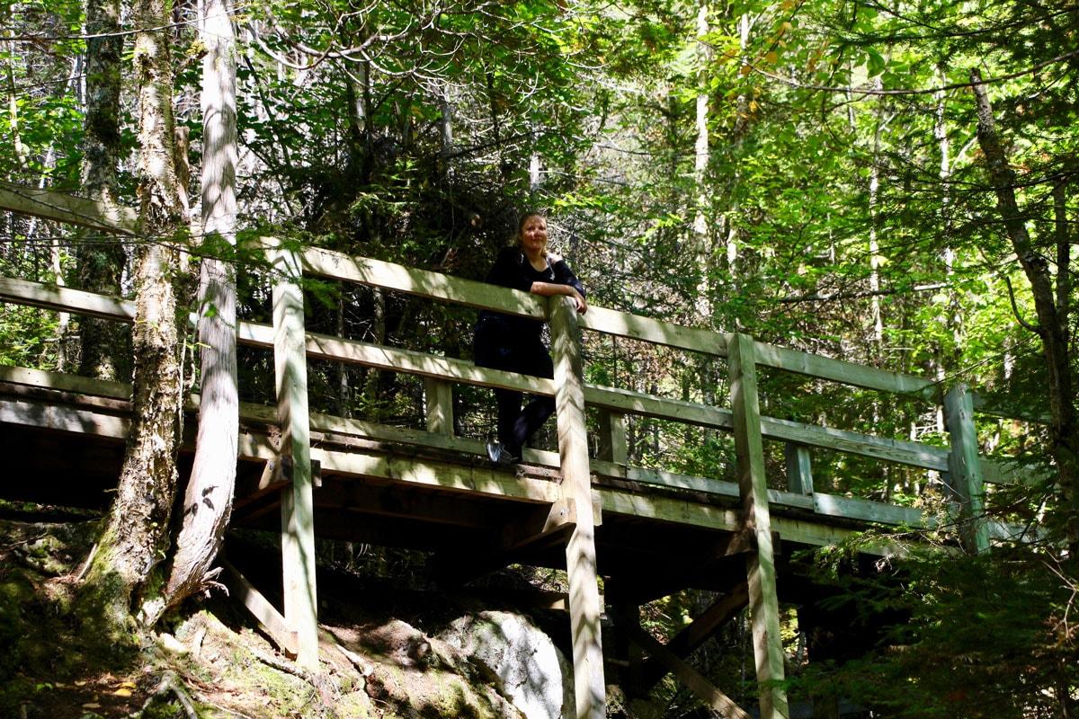 pont randonnee Fjord du Saguenay Quebec