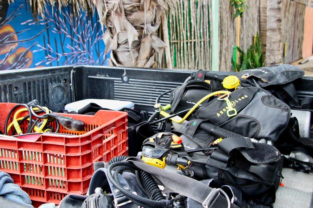 Equipement Plongée Tulum Mexique