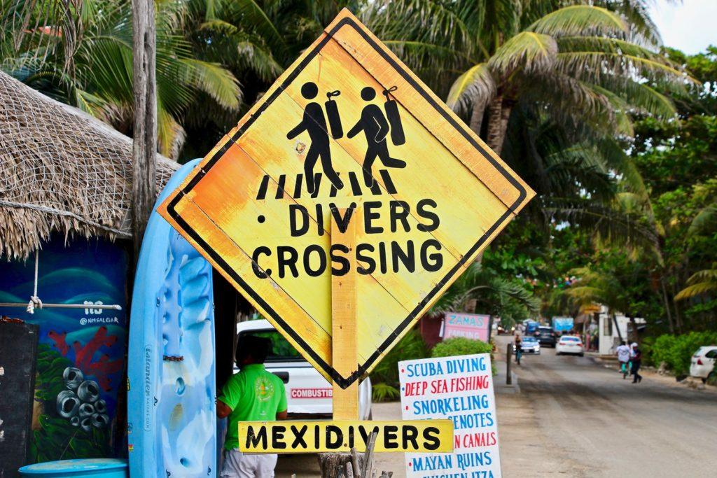 Panneau Plongée Tulum Mexique